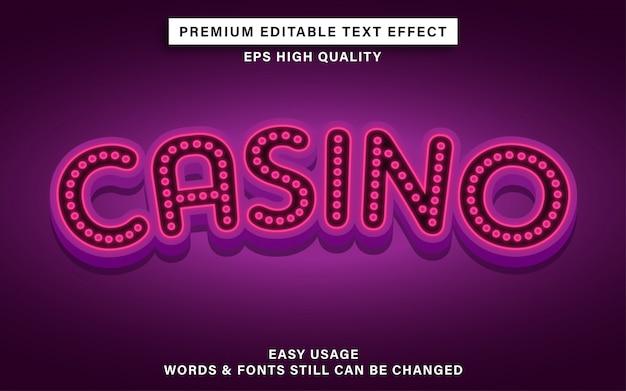 Texteffekt im casino-stil
