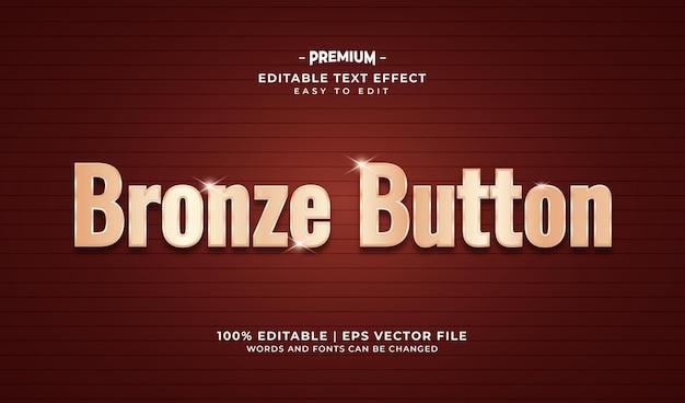 Texteffekt im luxusstil aus bronze