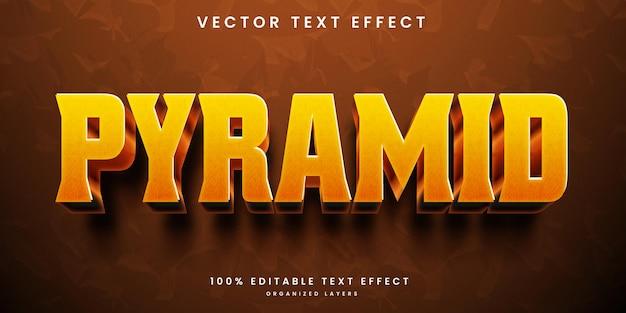 Texteffekt im pyramidenstil