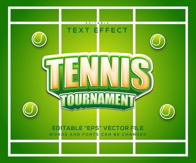 Texteffekt im tennisstil