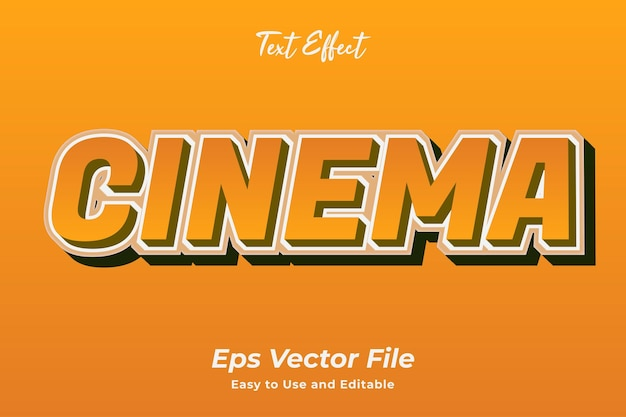 Texteffekt kino editierbar und einfach zu verwenden premium-vektor