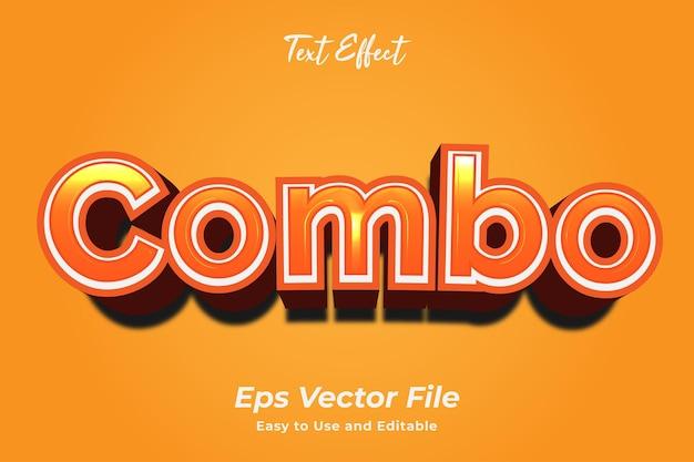 Texteffekt-kombination einfach zu bedienen und bearbeitbar premium-vektor