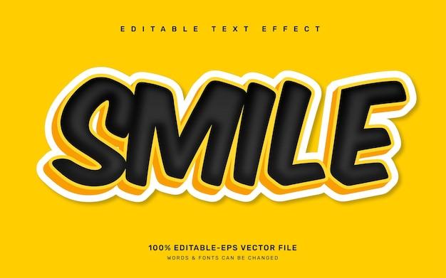Texteffekt lächeln