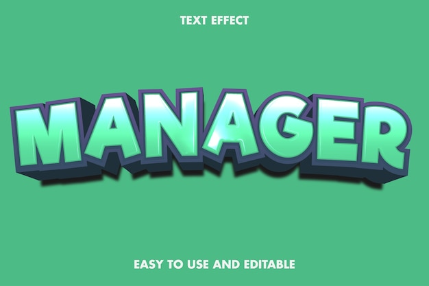 Texteffekt - manager.