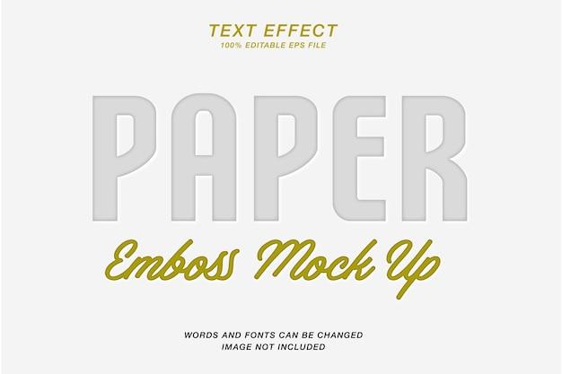 Texteffekt mit papierprägung