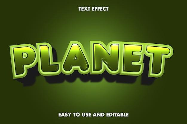 Texteffekt - planet.