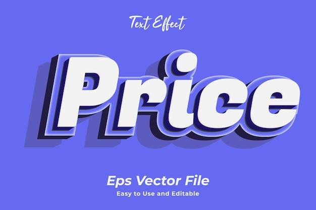 Texteffekt-preis bearbeitbar und einfach zu verwenden premium-vektor