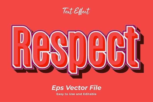 Texteffekt respekt bearbeitbar und einfach zu verwenden premium-vektor