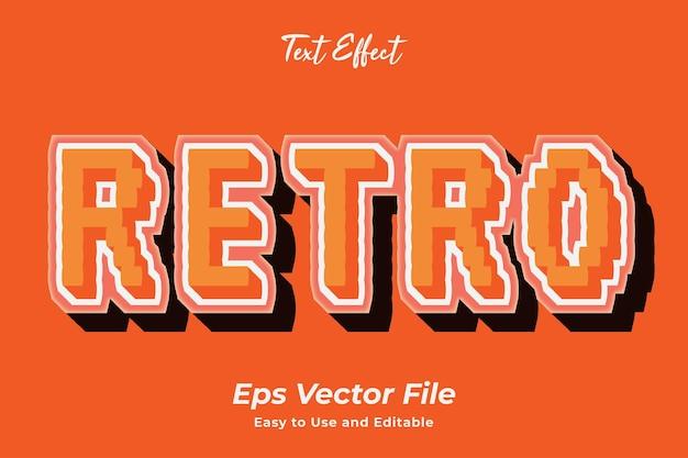 Texteffekt retro bearbeitbar und einfach zu verwenden premium-vektor