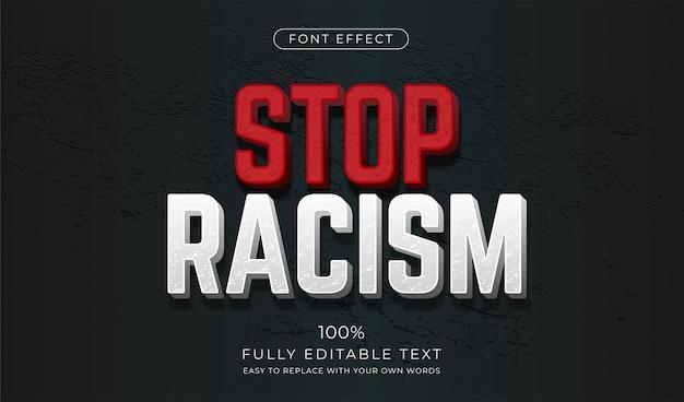 Texteffekt. stoppt rassismus