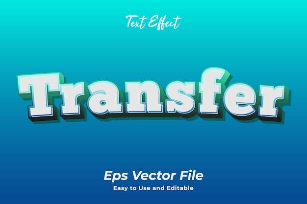 Texteffekt übertragung einfach zu verwenden und zu bearbeiten hochwertiger vektor