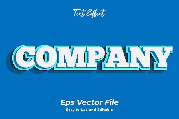 Texteffekt unternehmen editierbar und einfach zu verwenden premium-vektor