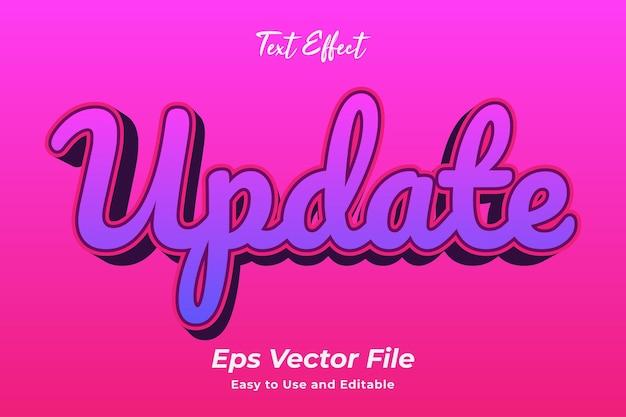 Texteffekt update bearbeitbar und einfach zu verwenden premium-vektor
