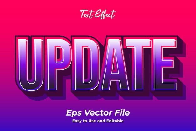 Texteffekt update einfach zu verwenden und zu bearbeiten hochwertiger vektor