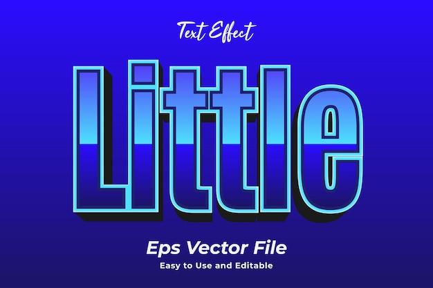 Texteffekt wenig bearbeitbar und einfach zu verwenden premium-vektor