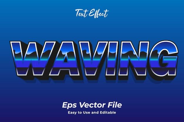 Texteffekt winken bearbeitbar und einfach zu verwenden premium-vektor