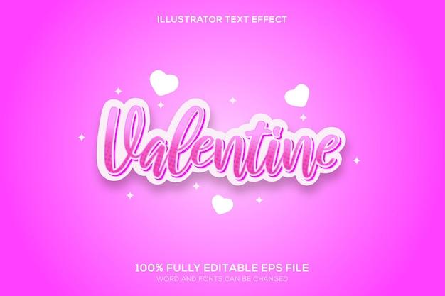 Texteffekt zum valentinstag
