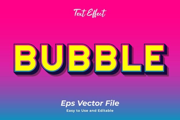 Texteffektblase editierbar und einfach zu verwenden premium-vektor