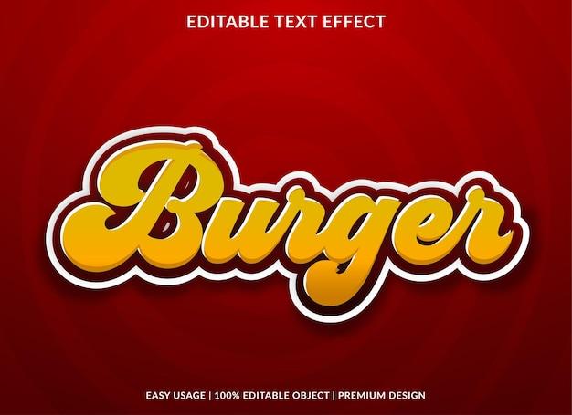 Texteffektschablone im burger-retro-stil