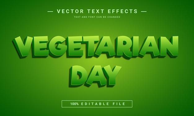 Texteffektvorlage für den vegetarischen tag
