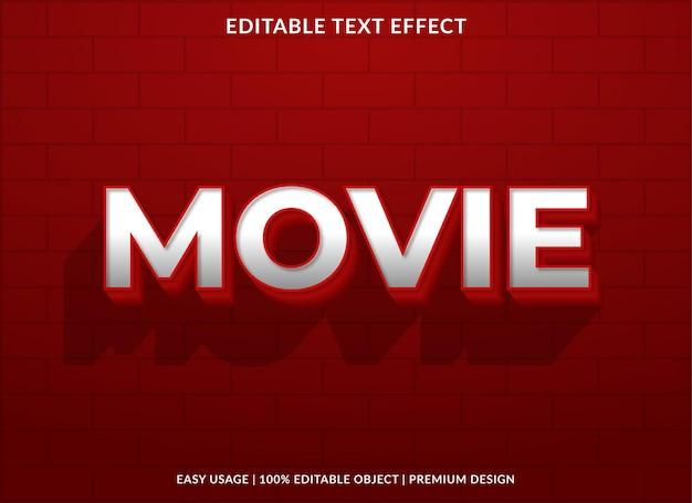 Texteffektvorlage im fettdruck des films
