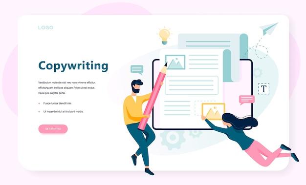 Texter-konzept. idee, texte zu schreiben, kreativität