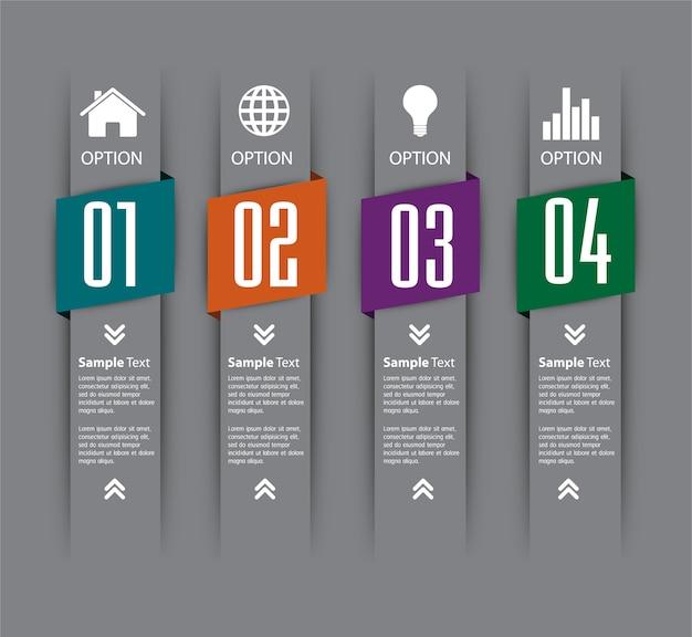Textfeld-vorlage, banner infografik