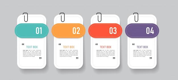 Textfelddesign mit notizpapieren.