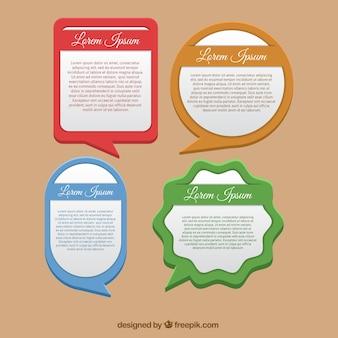Textfelder vorlagenpaket