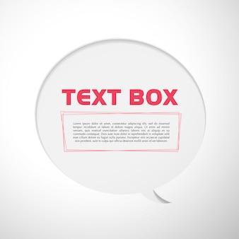 Textfeldvektorillustration.