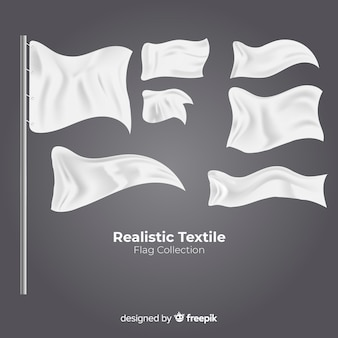 Textile flagge gesetzt