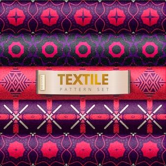 Textilmuster gesetzt
