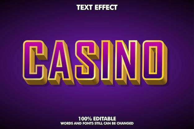 Textluxuseffekt des gold 3d für kasinofahne oder -spiel