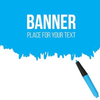 Textmarker mit kritzeleien banner