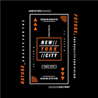 Textrahmen new york city grafikdesign