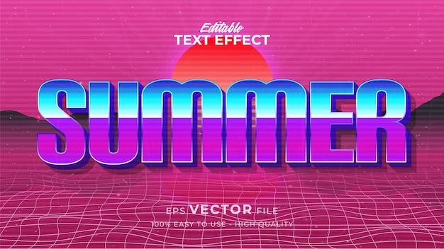 Textstil-effekt. retro sommertext im grunge-stil