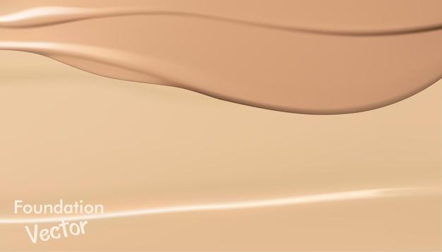 Textur der foundation für das gesicht gesichts-foundation abstriche der gesichtstoning-creme