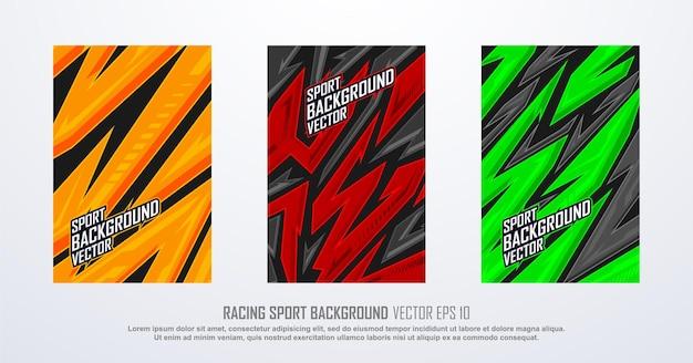 Textur-hintergrundpaket für sportrennen