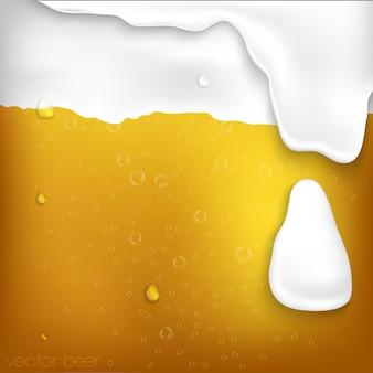Textur von bier mit schaum und blasen