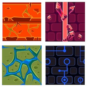 Texturen für platformers set games