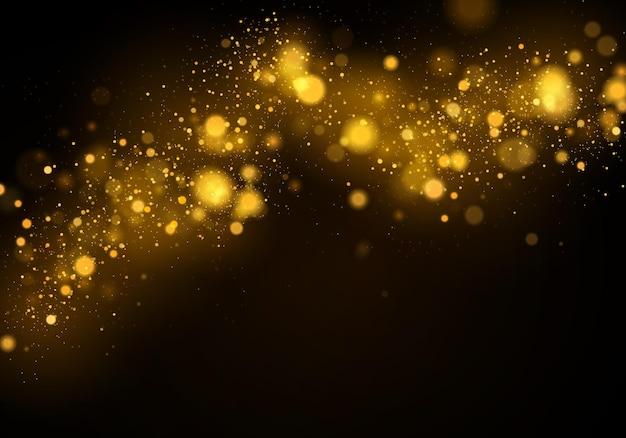 Texturhintergrund abstrakt schwarz und weiß oder silber glitzer und elegant für weihnachten staubweiß funkelnde magische staubpartikel magisches konzept abstrakter hintergrund mit bokeh-effekt vector