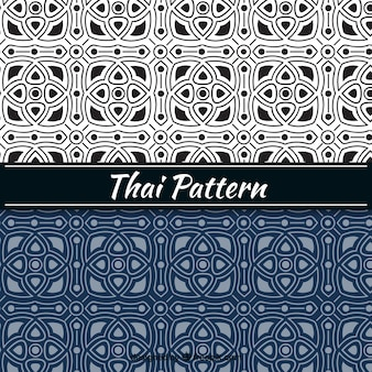 Thai-muster in flachen stil