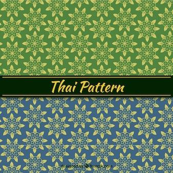 Thai-muster in flachen stil