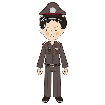Thailändische polizei in uniform