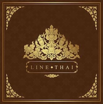 Thailändischer kunstrahmen für dekoration