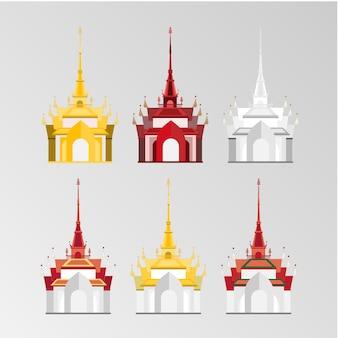 Thailändischer schlossvektorsatz