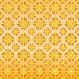 Thailändisches orientalisches goldenes nahtloses muster