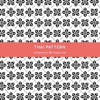 Thailändisches schwarzweiss-muster mit eleganter art