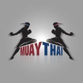 Thailändisches zeichen muay