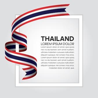 Thailand-bandflagge, vektorillustration auf einem weißen hintergrund